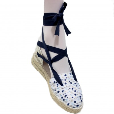 Espadrilles Half Wedge Blue...